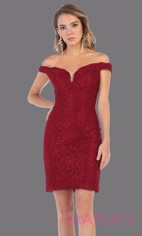 40493ae5584 Short Fitted Burgundy Off Shoulder Dress|Party Dress|Homecoming|Wedding  Guest Dress – Marla's Fashions