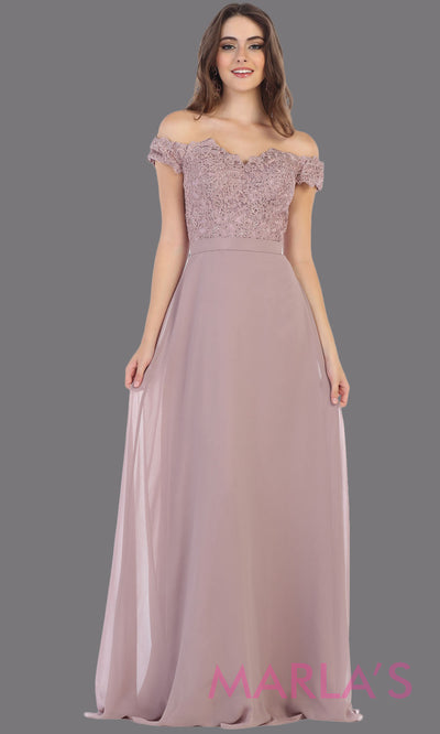Long flowy mauve off shoulder dress with empire waist. This pink purple gown is perfect for bridesmaids, simple wedding guest dress, formal party, plus size wedding guest dress, modest gown, indowestern gown