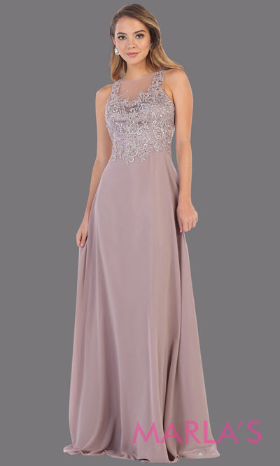 Long flowy mocha or dusty rose high neck dress with lace top. This mauve evening gown is perfect for bridesmaids, simple wedding guest dress, formal party, plus size wedding guest dress, modest gown, indowestern gown, mother of the bride