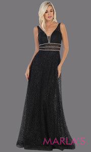 Long v neck glittery black dress with wide straps and v neck. This flowy black evening dress from mayqueen is perfect for engagment party dress, engagement photoshoot, prom, reception dress, indowestern party dress, formal gown, plus sizes