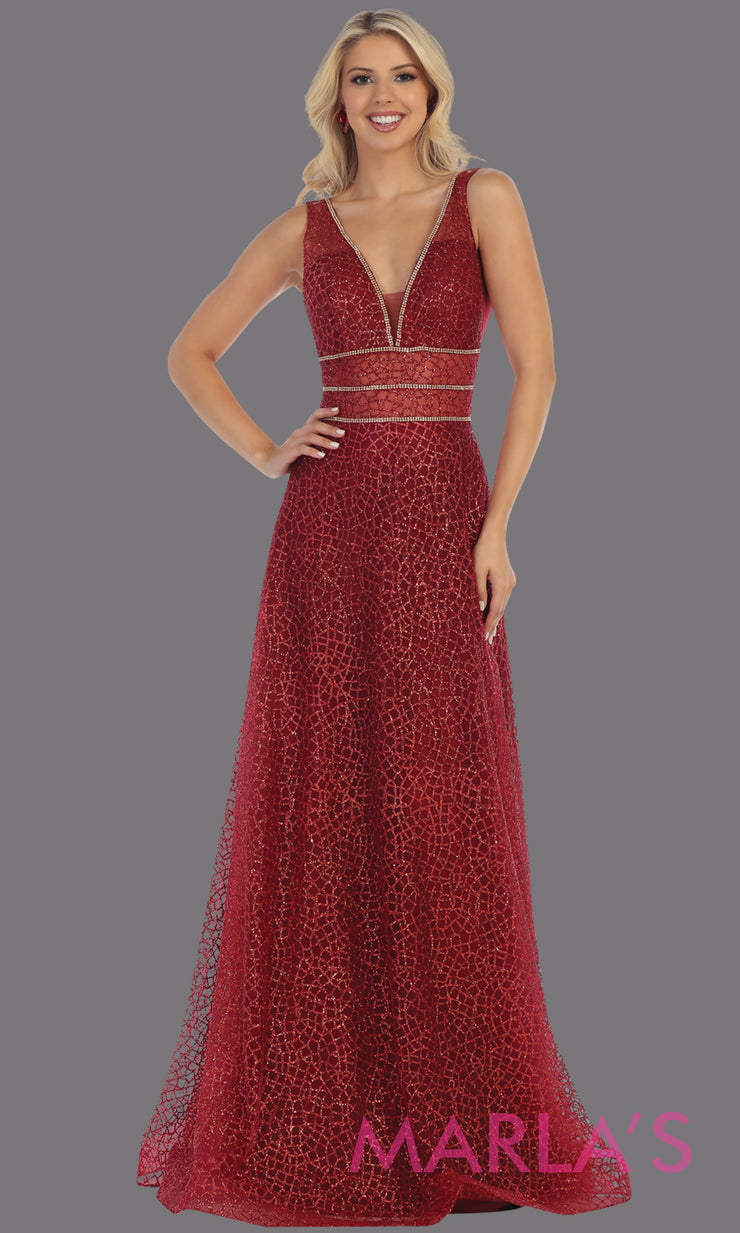 Long v neck glittery burgundy red dress with wide straps & v neck.This dark red flowy evening dress from mayqueen is perfect for engagment party dress, engagement photoshoot, prom,reception dress,indowestern party dress,formal gown,plus sizes