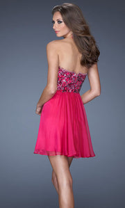 La Femme - 19477 Strapless Sequin Empire A-Line Dress In Pink