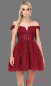 Heart & Soul Off Shoulder Puffy Lace Dress