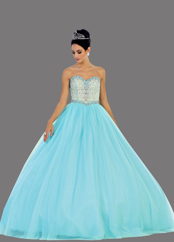 Long Sweetheart Strapless Ball Gown