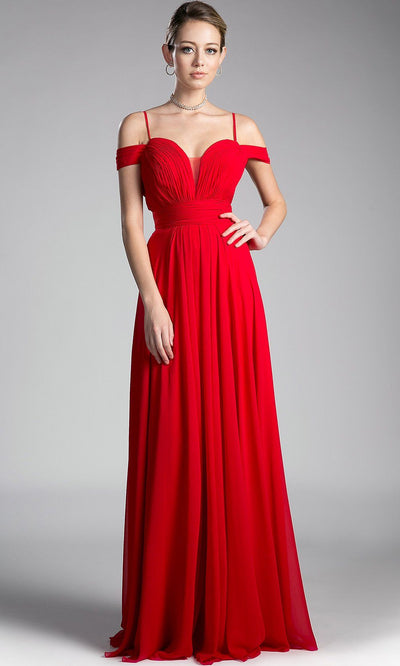 Long flowy red off shoulder dress with v neck back. Perfect long gown for bright red bridesmaids, simple red a-line prom dresses, wedding guest dresses, gala, flowy red dresses,strappy full lenth dress plus size available.