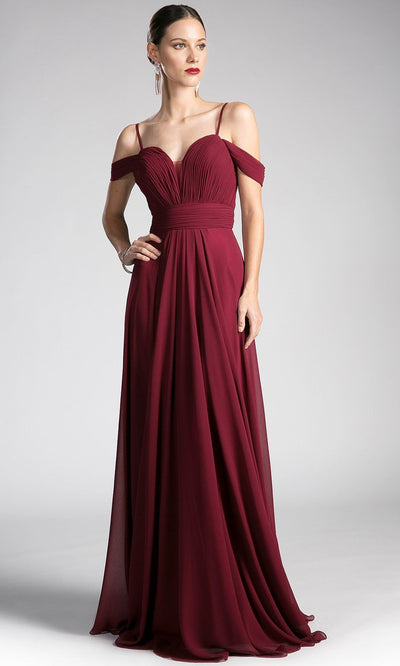Long flowy burgundy red off shoulder dress with v neck back. Perfect long gown for dark red bridesmaids, simple maroon a-line prom dresses, wedding guest dresses, gala, strappy full length dark red dress. plus size available.