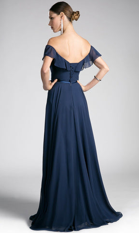 long navy blue off shoulder flowy dress. Perfect dark blue gown for bridesmaids, simple prom dress, simple dark blue a-line wedding guest dress, gala, flowy blue dress, off the shoulder full lenth dress. plus size available