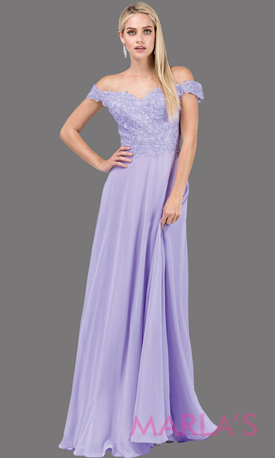 Long lilac off shoulder flowy simple party dress with lace top.This light purple formal evening gown is perfect as a prom dress, bridesmaid dress, formal wedding guest dress, maid of honour dress, indowestern lavendar party dress.Plus sizes avail.
