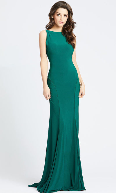 Mac Duggal - 25220L Backless Stretch Jersey Evening Gown In Green