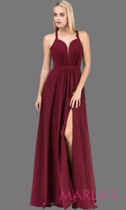 Katherine Flowy Chiffon Dress with High Slit