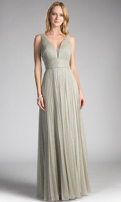 Long champagne flowy crinkle dress with v neck.This low cut v neck is sleek and sexy with a flowy a-line skirt. Perfect light gold dress for bridesmaid dresses,gala, wedding guest dress,evening formal party.Plus sizes avail