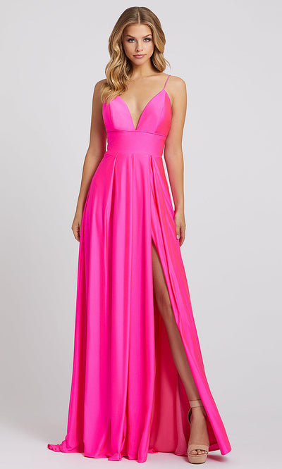 Mac Duggal - 26165I Sweetheart Neck Empire Waist A-Line Gown In Pink