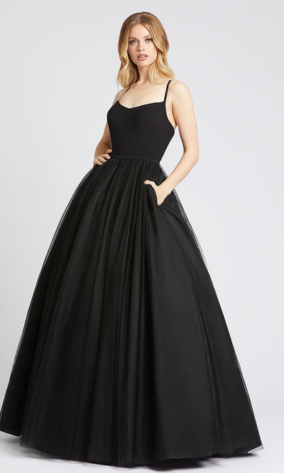 Mac Duggal - 26226I Sleeveless V Neck Ballgown In Black