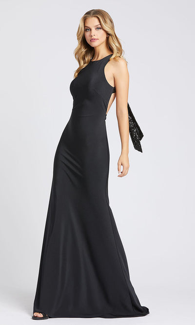 Mac Duggal - 26262I Jewel Jersey Gown With Open Back In Black