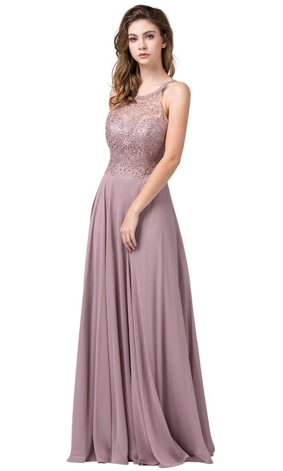 Dancing Queen - 2678 Embellished Halter Flowy Dress