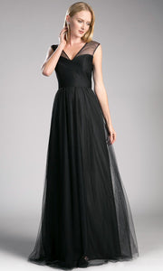 long black flowy tulle dress with wide straps. This flowy black dress is perfect for bridesmaids, wedding guest dress, formal gown, modest dress, fall wedding, party dress, black tie evening gown. plus size dresses avail.