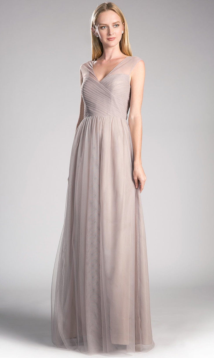 long light beige flowy tulle dress with wide straps.This light champagne dress perfect for bridesmaids, wedding guest dress,formal gown,modest dress,fall wedding,party dress, black tie evening gown. plus size dresses avail.