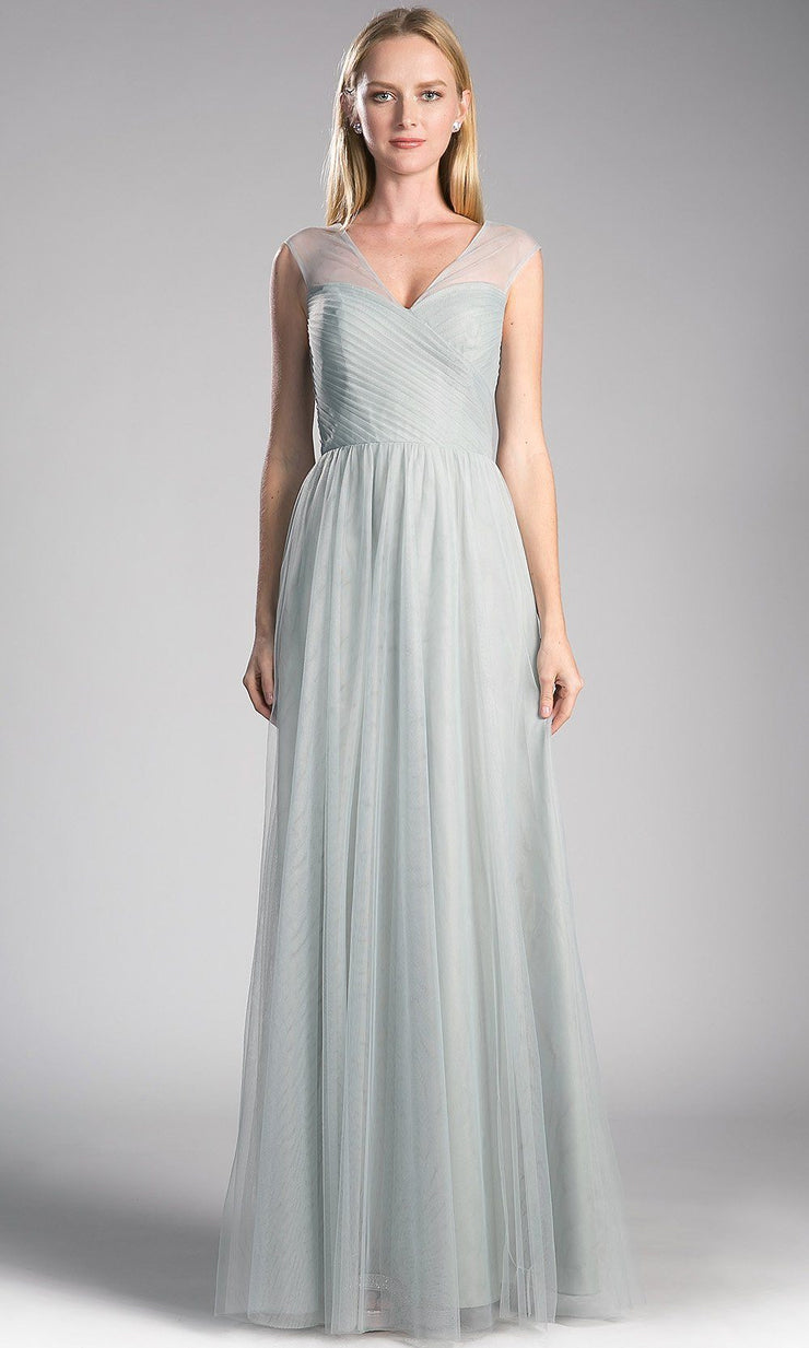 long light gray flowy tulle dress with wide straps.This light silver dress perfect for bridesmaids, wedding guest dress,formal gown,modest dress,fall wedding,party dress, black tie evening gown. plus size dresses avail.