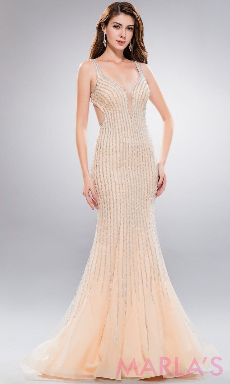 Long gold sequin dress with open low back. This stunning beaded champagne full length evening dress is perfect for  prom,wedding engagement and reception dress, wedding gown, formal party,gala