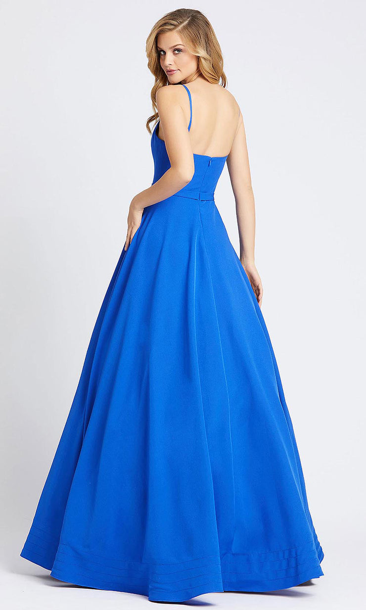 Mac Duggal - 48855I Sleeveless Fitted Bodice A-Line Dress In Blue