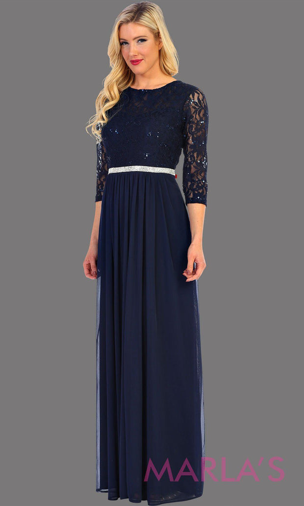 Long Sleeve Lace Bodice Dress
