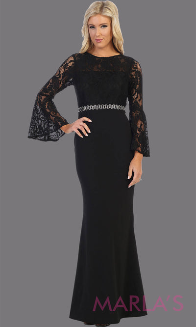 Long black long sleeve lace modest dress. Perfect as muslim dress, mother of the bride, full length sleeve slim fitted lace dress, black modest prom dress, arab prom dress, indowestern lace black gown. Plus Sizes available