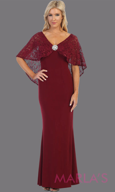 Long burgundy red short sleeve modest dress. Perfect as muslim dress, mother of the bride, sleeve flowy lace dress, modest prom dress, arab prom dress, dark red indowestern lace maroon gown. Plus Sizes available