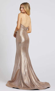 Mac Duggal - 66491L Beaded Sweetheart Trumpet Dress In Silver and Neutral