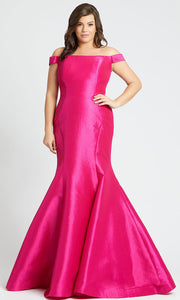 Mac Duggal - 66803F Off Shoulder Mermaid Gown With Train In Pink