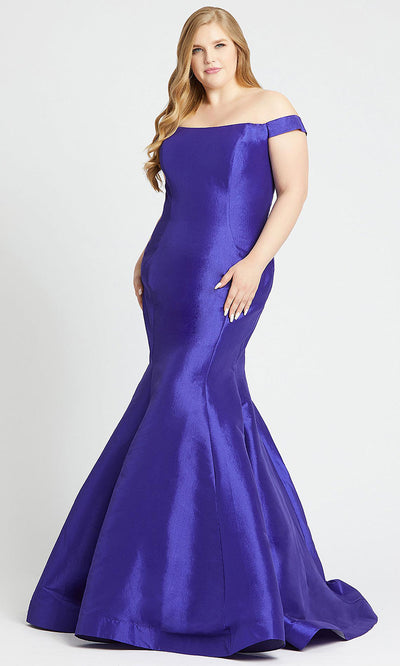 Mac Duggal - 66803F Off Shoulder Mermaid Gown With Train In Purple