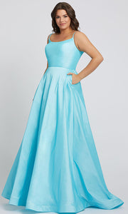 Mac Duggal - 67219F Scoop Neck Ballgown In Blue