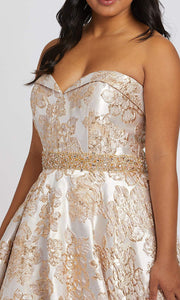 Mac Duggal - 67238F Embroidered Sweetheart Ballgown In Gold