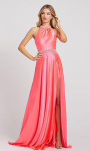 Mac Duggal - 67339L Beaded Neck And Waist Satin Gown