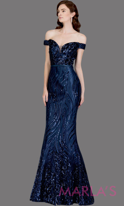 Long navy fitted sequin beaded mermaid evening gown. This strapless evening gown is perfect as dark blue prom dress,wedding reception or engagement dress, formal wedding guest dress, fancy indowestern formal evening party gown.Plus sizes avail