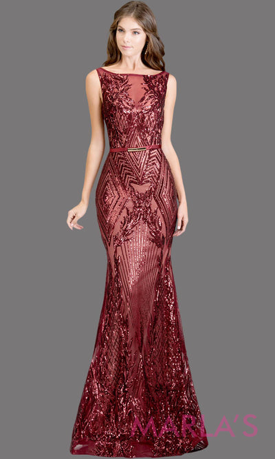 Long burgundy red fitted beaded mermaid evening gown w/low back. This high neck evening gown is perfect as prom dress, wedding reception or engagement dress, formal wedding guest dress, dark red indowestern formal evening gown.Plus sizes avail