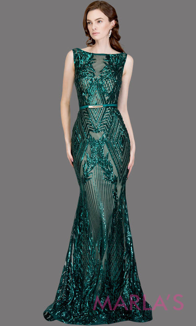 Long emerald green fitted beaded mermaid evening gown w/low back.This high neck evening gown is perfect as prom dress,wedding reception or engagement dress, formal wedding guest dress,dark green indowestern formal evening gown.Plus sizes avail