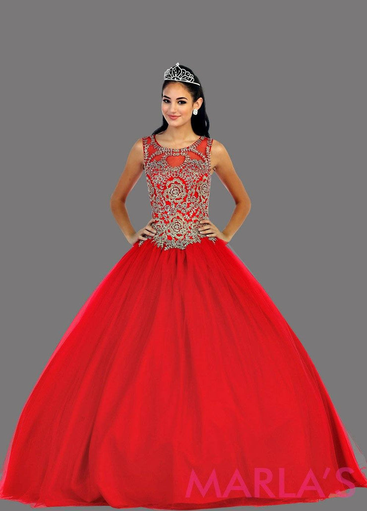 Long red blue high neck princess quinceanera ball gown with rhinestone beading. Perfect red dress for Engagement dress, Quinceanera, Sweet 16, Sweet 15 and pink Wedding Reception Dress. Available in plus