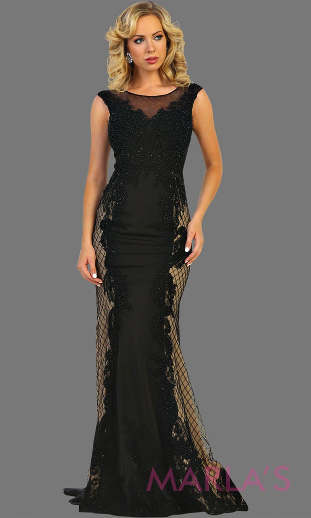 Long high neck mermaid black gown. This long black dress is perfect for gala, charity event, formal wedding guest, formal party, western party dress, evening gown. Plus size available.