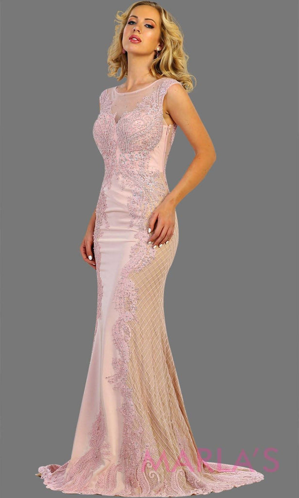 Long high neck mermaid dusty rose gown. This long dusty rose dress is perfect for gala, charity event, formal wedding guest, formal party, western party dress, evening gown. Plus size available.