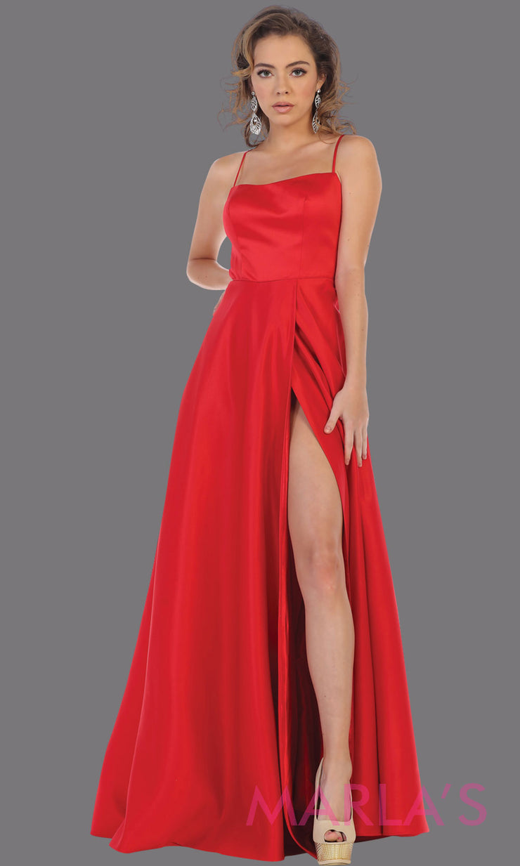 Deep in Love High Slit Satin Dress