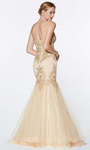 Cinderella Divine - 9179 Embellished Mermaid Gown In Neutral