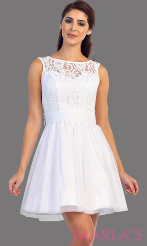 Short White Sweet and Sassy Lace Dress