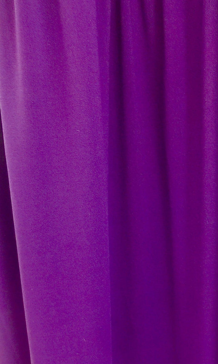 Dark Purple Infinity Long Bridesmaid Dress Swatch and Eggplant Convertible Dress Fabric and Purple Multiway Dress