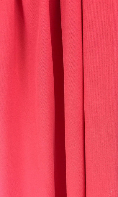 Coral Infinity Long Bridesmaid Dress Swatch and Orange Convertible Dress Fabric and Red Multiway Dress