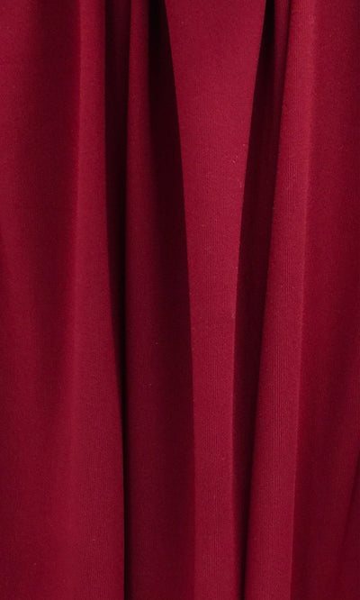 Burgundy Infinity Long Bridesmaid Dress Swatch and Maroon Convertible Dress Fabric and Dark Red Multiway Dress