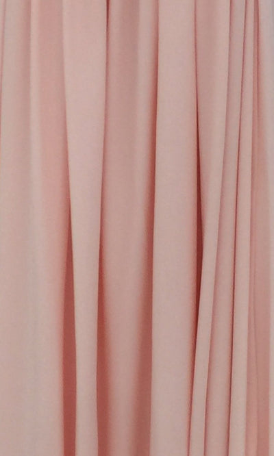 Blush Infinity Long Bridesmaid Dress Swatch and Pink Convertible Dress Fabric and Light Pink Multiway Dress