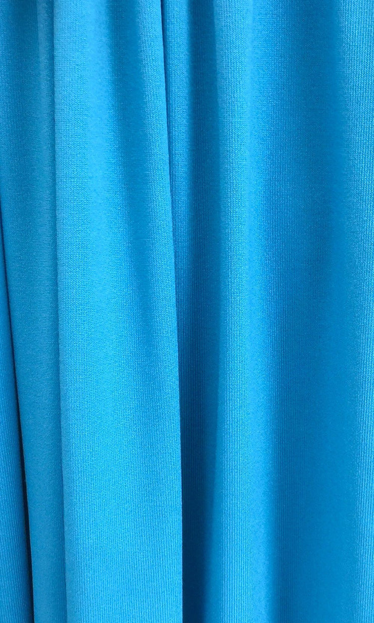 Turquoise Infinity Long Bridesmaid Dress Swatch and Aqua Convertible Dress Fabric and Blue Green Multiway Dress