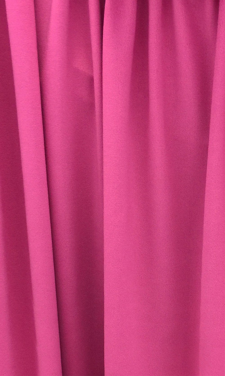 Fuscia Infinity Long Bridesmaid Dress Swatch and Bright Hot Pink Convertible Dress Fabric and Pink Multiway Dress