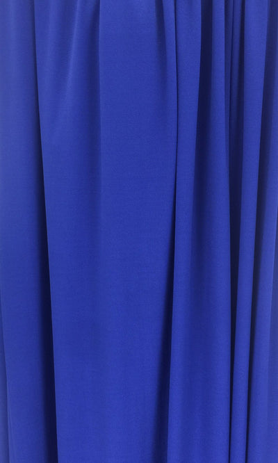 Royal Blue Infinity Long Bridesmaid Dress Swatch and Blue Convertible Dress Fabric and Bright Blue Multiway Dress