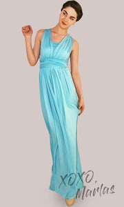 Long aqua blue infinity bridesmaid dress or multiway dress or convertible dress.One dress worn in multiple ways.This tiffany blue one size dress is great for bridesmaid, prom, destination wedding, gala, cheap western party dress, semi formal